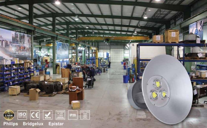 Đèn led hight bay trong nhà xưởng