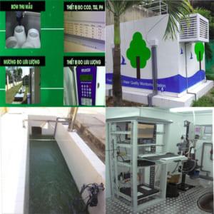 Trạm quan trắc nước thải tự động các thông số pH, COD, TSS, Lưu lượng, Amonia-NH4+, truyền dữ liệu về sở tài nguyên môi trường theo thông tư 24/2017/btnmt